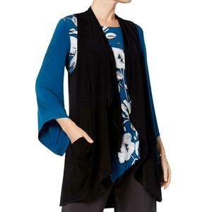 Alfani Womens New Black Pocketed Sleeveless Vest
